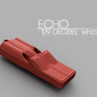 Small Echo | 3 tone whistle 3D Printing 66333