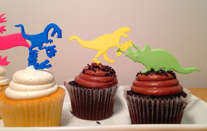 DINOSAUR-CAKE TOPPERS SET OF SIX 3D Print 6639