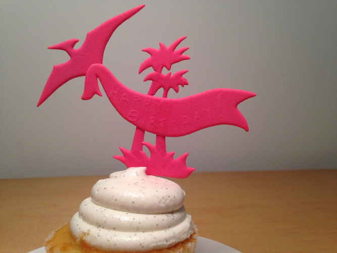 PTERODACTYL CAKE TOPPER 3D Print 6641