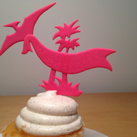 Small PTERODACTYL CAKE TOPPER 3D Printing 6641