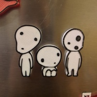 Small Kodama Spirit Magnets (Princess Mononoke) 3D Printing 66511