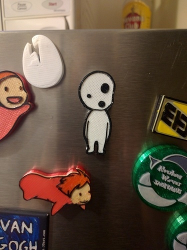 Kodama Spirit Magnets (Princess Mononoke) 3D Print 66514