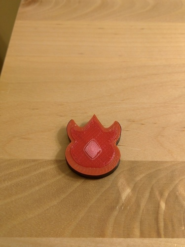 Volcano Badge Pokemon Magnet 3D Print 66534