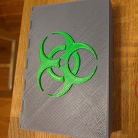Small Pandemic Piece Holder: Biohazard and Medic Covers 3D Printing 66567