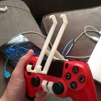 Small PS4 controler Nexus 7 Mount 3D Printing 66579