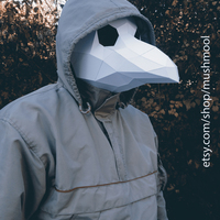 Small Plague Doctor Mask 3D Printing 66721