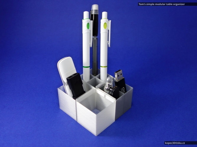 Tom's simple modular table organizer V2 3D Print 66858