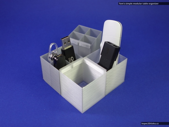 Tom's simple modular table organizer V2 3D Print 66859