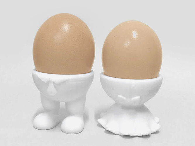 Couple Egg Cups 3D Print 6686