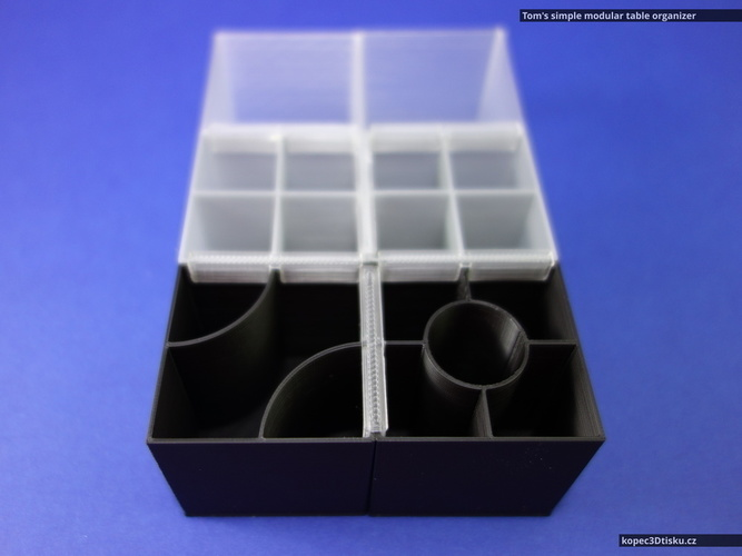 Tom's simple modular table organizer V2 3D Print 66861