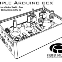 Small Simple Arduino Box - room for shield, fan & controls 3D Printing 66929