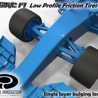 Small Low Profile Friction Tires 2 for OpenR/C F1 car 3D Printing 66931