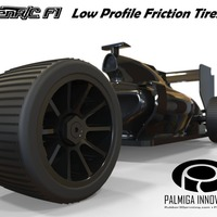 Small Low Profile Friction Tires for OpenR/C F1 car 3D Printing 66935