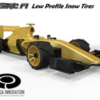 Small Low Profile Snow Tires for OpenR/C F1 car 3D Printing 66938