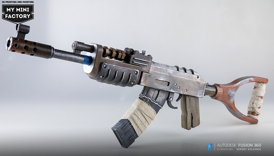 AK47 from Rust 3D Print 66966