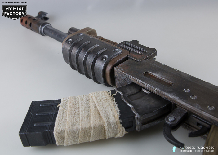 AK47 from Rust 3D Print 66967