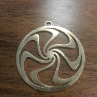 Small Rolling Wheel Pendant 3D Printing 66978
