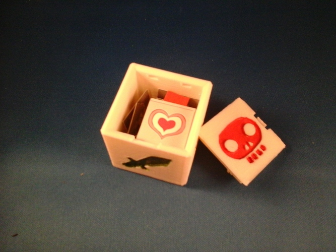 Pocket Dungeon Quest dice/game box 3D Print 6700