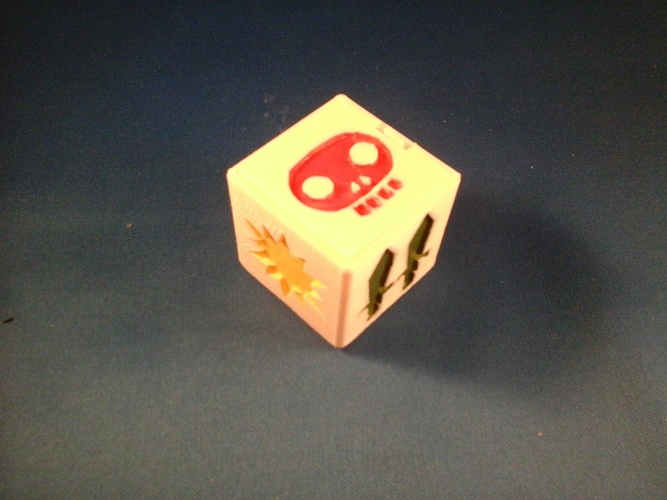 Pocket Dungeon Quest dice/game box 3D Print 6701