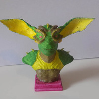 Small CREATURE BUST 3D Printing 67268