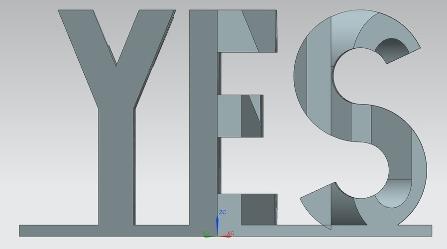 YES/NO Perspective 3D Print 67296