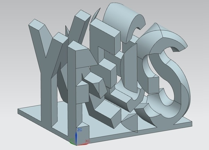 YES/NO Perspective 3D Print 67297