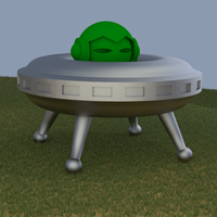 Small Marvin's Spacecraft (to fit 3D Hubs Marvin) 3D Printing 67427