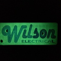 Small Wilson Electrical keychain 3D Printing 67637