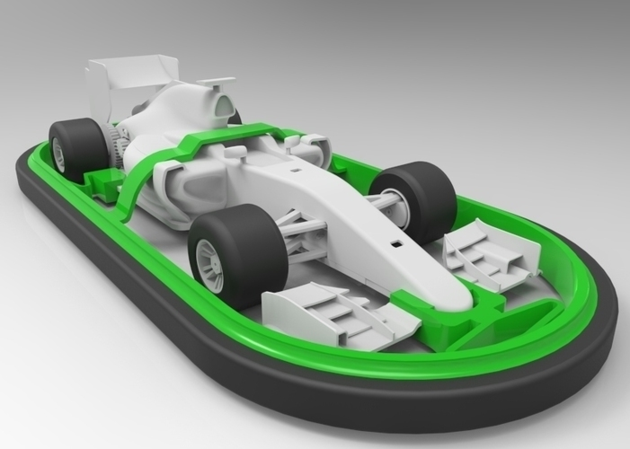 Open R/C F1 Bumper Car Kit 3D Print 67757