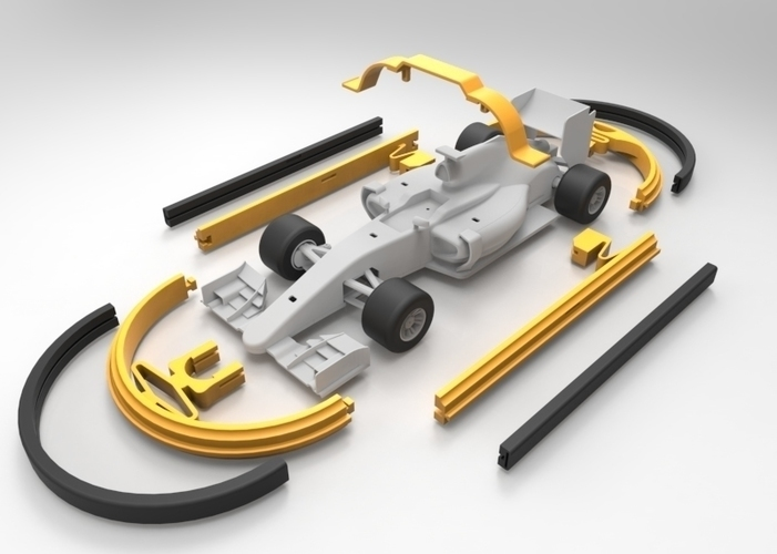 Open R/C F1 Bumper Car Kit 3D Print 67758