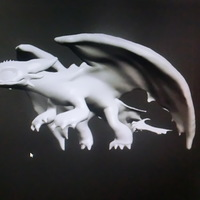 Small Dragon-  Night fury.   Furia nocturna.  Toothless. 3D Printing 67822