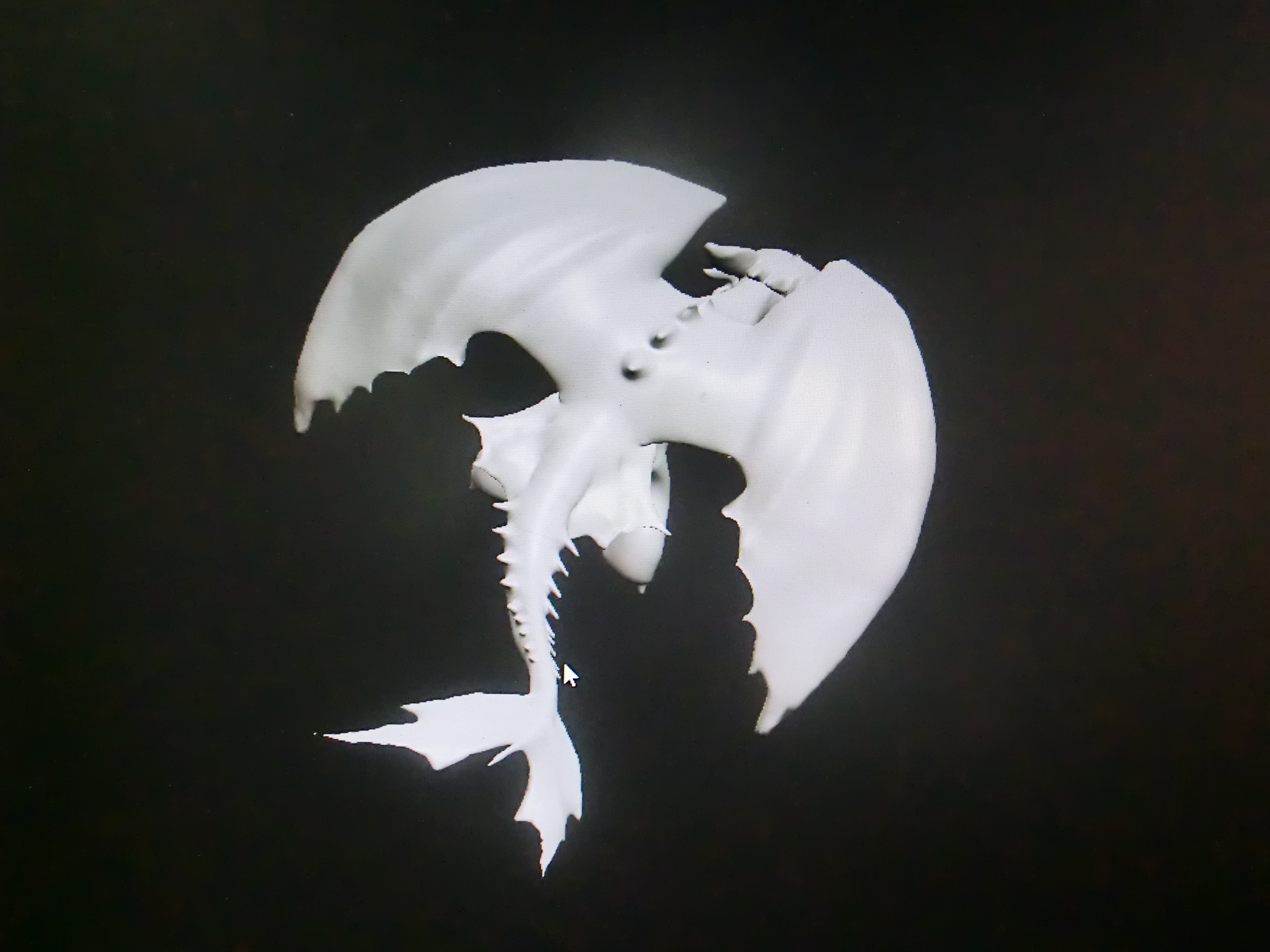 3d printed dragon night fury furia nocturna toothless by