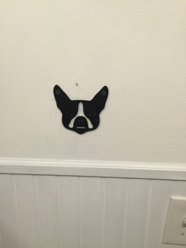 Boston Terrier Towel Hook  3D Print 67962
