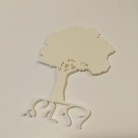 Small Tree silhouette  3D Printing 67975