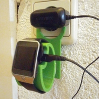Small Samsung Gear 2 Charging Wall Holder 3D Printing 68087