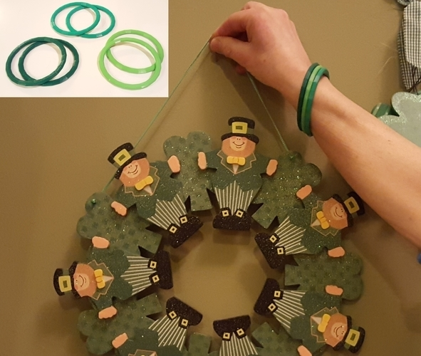 St. Patrick's Day Green Band 3D Print 68126