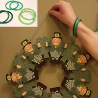 Small St. Patrick's Day Green Band 3D Printing 68126