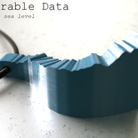 Small Wearable Data – global sea level 3D Printing 68159