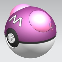 Small Master Ball (opens and closes) 3D Printing 68173