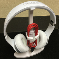 Small beats or other headset stand w/ cord holder. 3D Printing 68215