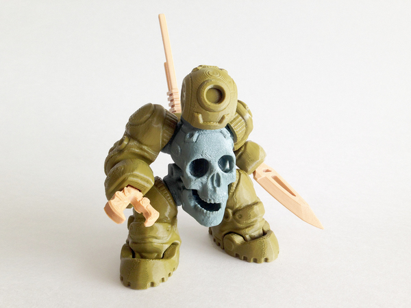 Medium SkullBot 001 - via 3DKToys 3D Printing 68253