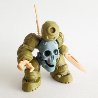 Small SkullBot 001 - via 3DKToys 3D Printing 68253