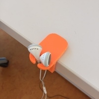 Small Earphone table holder 3D Printing 68298