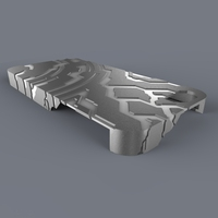Small Halo/Tron Themed Case (iPhone 5) 3D Printing 686