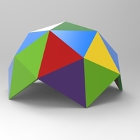 Small geodesic dome 1 d 3D Printing 68907