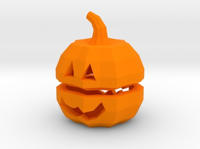 Tea light Pumpkin Lantern 3D Print 6929