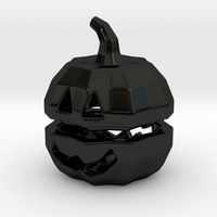 Small Tea light Pumpkin Lantern 3D Printing 6930
