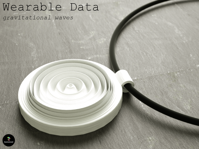 Wearable Data – gravitational waves 3D Print 70182