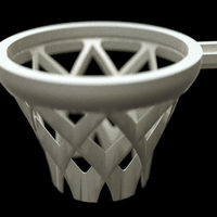 Small LEGO-compatible basketball basket 3D Printing 70202