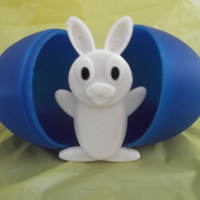 Small Easter Bunny and Egg. 3D Printing 70365